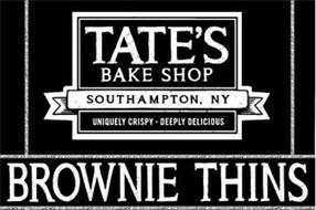 TATE'S BAKE SHOP SOUTHAMPTON, NY UNIQUELY CRISPY DEEPLY DELICIOUS BROWNIE THINS