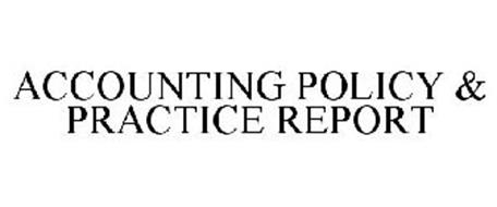 ACCOUNTING POLICY & PRACTICE REPORT