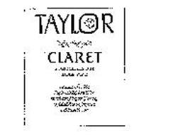 TAYLOR NEW YORK STATE CLARET A DELICATELY DRY TABLE WINE PRODUCED AND BOTTLED BY THE TAYLOR WINE COMPANY, INC. HAMMONDSPORT N.Y. U.S.A. ESTABLISHED 1880 ALCOHOLBY VOLUME