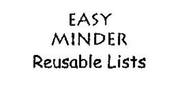 EASY MINDER REUSABLE LISTS