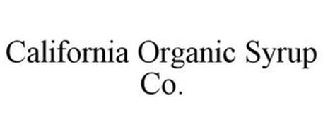 CALIFORNIA ORGANIC SYRUP CO.