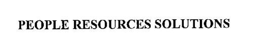 PEOPLE RESOURCES SOLUTIONS