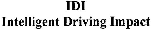 IDI INTELLIGENT DRIVING IMPACT
