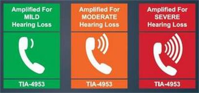 AMPLIFIED FOR MILD HEARING LOSS TIA 4953 AMPLIFIED FOR MODERATE HEARING LOSS TIA-4953 AMPLIFIED FOR SEVERE HEARING LOSS TIA-4953