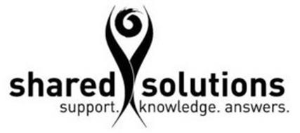SHARED SOLUTIONS SUPPORT. KNOWLEDGE. ANSWERS.