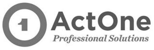 1 ACTONE PROFESSIONAL SOLUTIONS