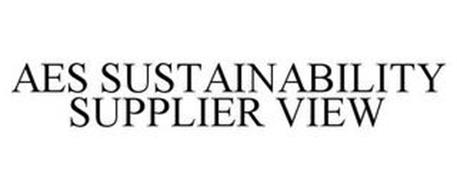 AES SUSTAINABILITY SUPPLIER VIEW