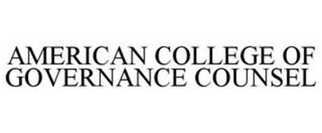AMERICAN COLLEGE OF GOVERNANCE COUNSEL