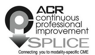 ACR CPI CONTINUOUS PROFESSIONAL IMPROVEMENT SPLICE CONNECTING YOU TO MODALITY-SPECIFIC CME