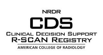 NRDR CDS CLINICAL DECISION SUPPORT R-SCAN REGISTRY AMERICAN COLLEGE OF RADIOLOGY