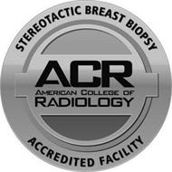 STEREOTACTIC BREAST BIOPSY ACCREDITED FACILITY ACR AMERICAN COLLEGE OF RADIOLOGY