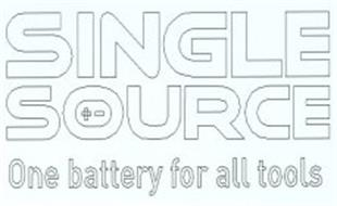 SINGLE SOURCE ONE BATTERY FOR ALL TOOLS