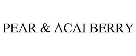 PEAR & ACAI BERRY