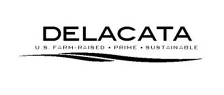 DELACATA U.S. FARM-RAISED · PRIME · SUSTAINABLE