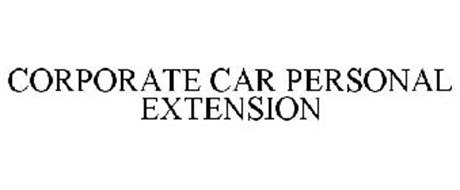 CORPORATE CAR PERSONAL EXTENSION