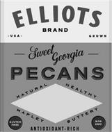 ELLIOTS BRAND USA GROWN SWEET GEORGIA PECANS NATURAL HEALTHY MAPLEY BUTTERY GLUTEN FREE ANTIOXIDANT-RICH NON GMO
