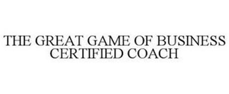 THE GREAT GAME OF BUSINESS CERTIFIED COACH