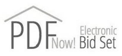 PDF NOW! ELECTRONIC BID SET