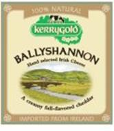 100 % NATURAL KERRYGOLD BALLYSHANNON HAND SELECTED IRISH CHEESE A CREAMY FULL-FLAVORED CHEDDAR IMPORTED FROM IRELAND