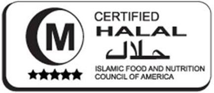 M CERTIFIED HALAL ISLAMIC FOOD AND NUTRITION COUNCIL OF AMERICA