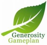 GENEROSITY GAMEPLAN