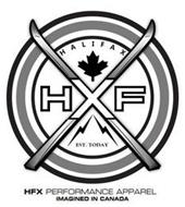 HFX PERFORMANCE APPAREL IMAGINED IN CANADA HXF HALIFAX EST. TODAY
