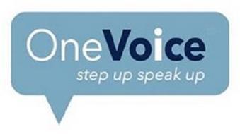 ONEVOICE STEP UP SPEAK UP