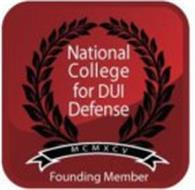 NATIONAL COLLEGE FOR DUI DEFENSE MCMXCV FOUNDING MEMBER