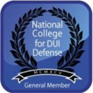 NATIONAL COLLEGE FOR DUI DEFENSE MCMXCV GENERAL MEMBER