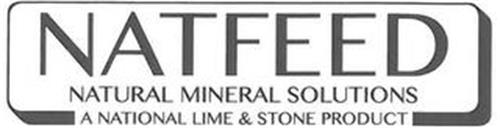 NATFEED NATURAL MINERAL SOLUTIONS A NATIONAL LIME & STONE PRODUCT