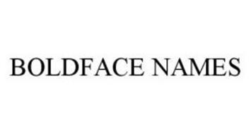 BOLDFACE NAMES