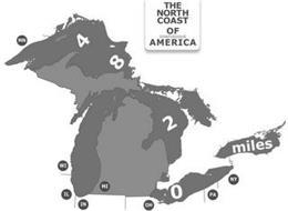 THE NORTH COAST OF CONTIGUOUS AMERICA MN WI IL IN MI OH PA NY 4 8 2 0 MILES
