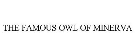 THE FAMOUS OWL OF MINERVA