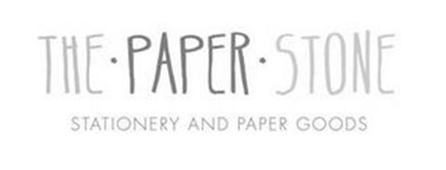 THE · PAPER · STONE STATIONERY AND PAPER GOODS