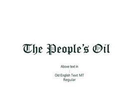 THE PEOPLE'S OIL