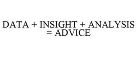 DATA + INSIGHT + ANALYSIS = ADVICE