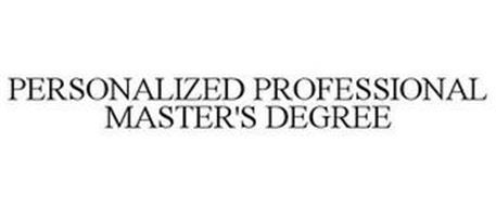 PERSONALIZED PROFESSIONAL MASTER'S DEGREE