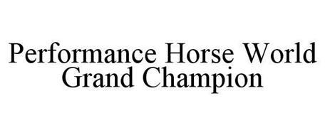 PERFORMANCE SHOW HORSE WORLD GRAND CHAMPION