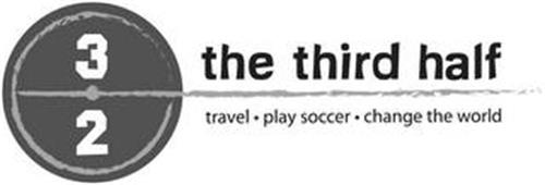 3/2 THE THIRD HALF TRAVEL · PLAY SOCCER · CHANGE THE WORLD
