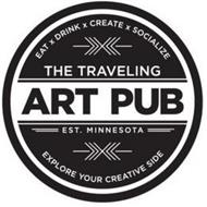 EAT X DRINK X CREATE X SOCIALIZE THE TRAVELING ART PU EST. MINNESOTA EXPLORE YOUR CREATIVE SIDE