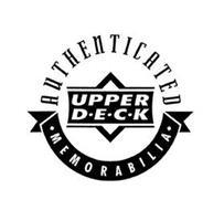 AUTHENTICATED UPPER D · E · C · K  · MEMORABILIA ·