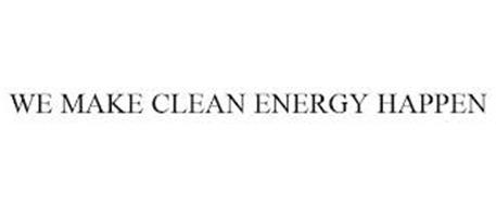 WE MAKE CLEAN ENERGY HAPPEN