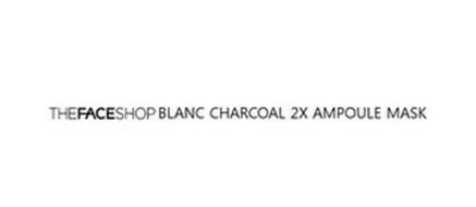THEFACESHOP BLANC CHARCOAL 2X AMPOULE MASK