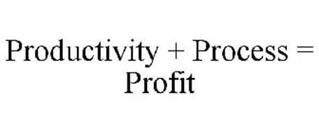 PRODUCTIVITY + PROCESS = PROFIT