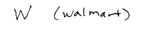 W (WALMART)