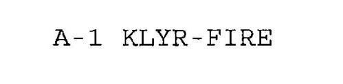 A-1 KLYR-FIRE