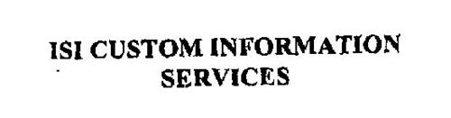 ISI CUSTOM INFORMATION SERVICES