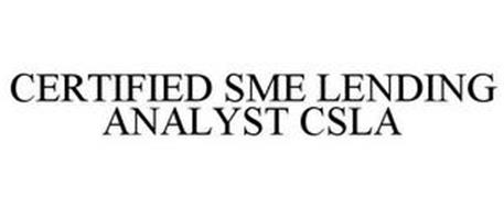 CERTIFIED SME LENDING ANALYST CSLA