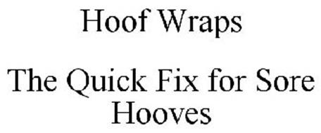 HOOF WRAPS THE QUICK FIX FOR SORE HOOVES