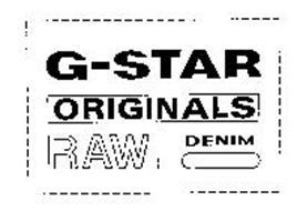 g star originals raw denim trademark of tm25 holding b v. Black Bedroom Furniture Sets. Home Design Ideas
